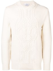 Alexander Mcqueen Cable Knit Sweater White