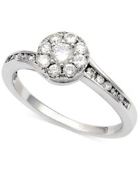 Macy's Diamond Halo Cluster Ring 5 8 Ct. T.W. In 14K White Gold