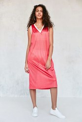 Silence And Noise Athletic Jersey Midi Dress Pink