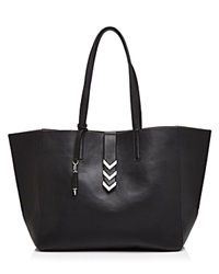 Mackage Aggie Tote Black Shiny Nickel
