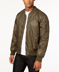 Guess Men's Classic Bomber Jacket Olive