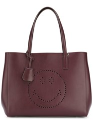 Anya Hindmarch Smiley Tote Red