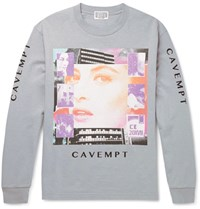Cav Empt Printed Cotton Jersey T Shirt Gray