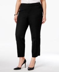 Charter Club Plus Size Tummy Control Cropped Pants Only At Macy's Deep Black