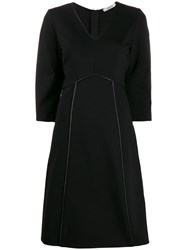 Dorothee Schumacher Piped Trim Dress Black