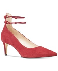 Nine West Sawtelle Detail Dress Pumps Women's Shoes Red