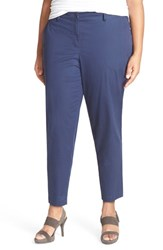 Plus Size Women's Eileen Fisher Stretch Twill Crop Tapered Leg Trousers