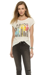 Sol Angeles Adios Beach Pocket Tee White