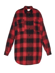 R 13 X Oversized Checked Cotton Shirt