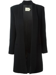 Fausto Puglisi Open Front Coat Black