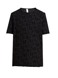Damir Doma Twain Wool And Cotton Blend Jacquard T Shirt Black Multi