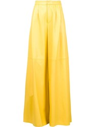 Adam By Adam Lippes Wide Pleat Front Trousers Yellow Orange