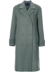 Alexander Wang Oversized Double Breasted Coat Green