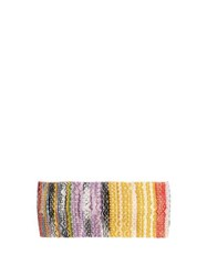 Missoni Mare Metallic Crochet Knit Headband White Multi