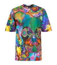 Christopher Kane Psychedelic Flower Printed T Shirt Male Multi