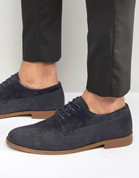 New Look Derby Shoes In Navy Navy