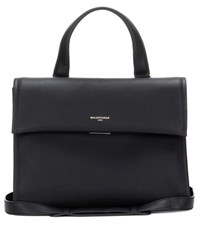 Balenciaga Tool Medium Leather Satchel Black