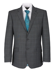 Paul Costelloe Check Notch Collar Classic Fit Suit Jacket Grey
