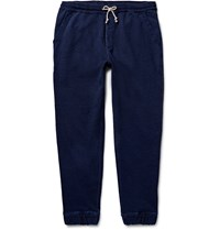 J.Crew Wallace And Barnes Indigo Dyed Loopback Cotton Jersey Sweatpants Blue