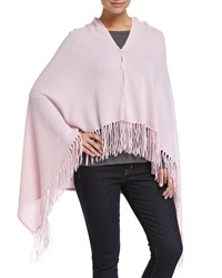 Minnie Rose Cashmere Button Front Fringe Poncho