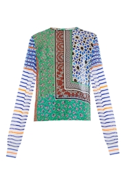 Preen Line Orza Star Patchwork Print Georgette Top