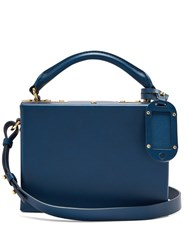 Sophie Hulme Albany Leather Cross Body Bag Navy