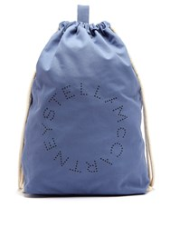 Stella Mccartney Logo Print Drawstring Backpack Blue Multi