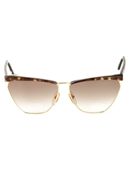 Missoni Vintage Square Frame Sunglasses Nude And Neutrals