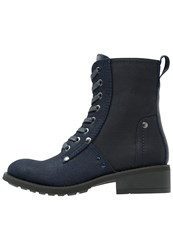 G Star Gstar Labour Boot Laceup Boots Dark Navy Blue Denim