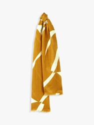 Jaeger Circle Linen Scarf Yellow Assorted