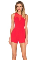 Bcbgeneration Sweetheart Romper Red