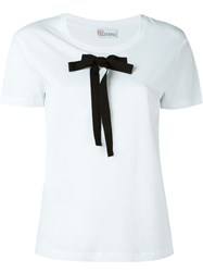 Red Valentino Front Bow T Shirt White
