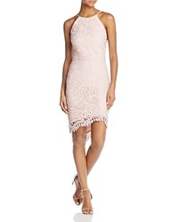 Adelyn Rae Louise Lace Fishtail Dress Pink Sand