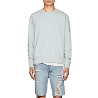 Ksubi Seeing Lines Distressed Cotton Sweatshirt Green