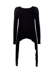 Wallis Black Long Sleeve Asymmetric Top