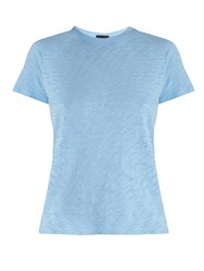 Atm Anthony Thomas Melillo Schoolboy Round Neck Cotton T Shirt Light Blue