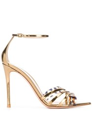 Gianvito Rossi Pointed Leopard Strap Sandals 60
