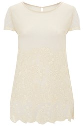 Nougat London Lily Embroidered T Shirt Neutral