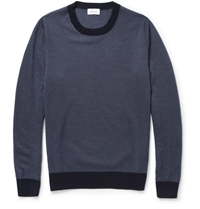 Brioni Patterned Knitted Cashmere Sweater Blue