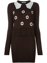 Vivetta Floral Pattern Pullover Brown