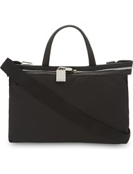 Calvin Klein Canvas And Leather Small Tote Black