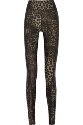 The Upside Dance Leopard Print Stretch Jersey Leggings