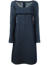 Walter Van Beirendonck Vintage A Line Denim Dress Blue