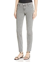 J Brand Zion Mid Rise Skinny Jeans In Distressed Silver Fox