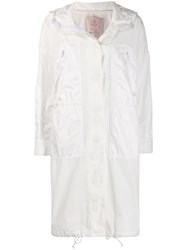 Tela Hooded Parka Coat White