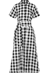 Lisa Marie Fernandez Gingham Poplin Shirt Dress