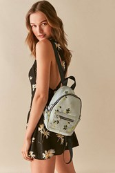 Urban Outfitters Satin Mini Backpack Blue