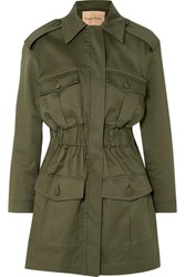 Maggie Marilyn I'll Fight For You Stretch Cotton Twill Jacket Army Green