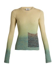 Acne Studios Rasha Ribbed Knit Degrade Sweater Yellow Multi