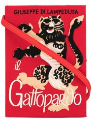 Olympia Le Tan Gatopardo Book Clutch Red